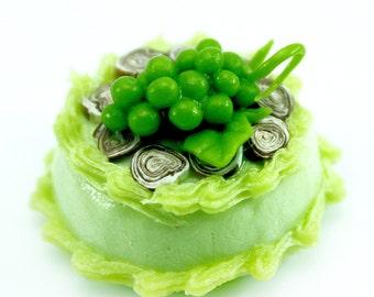 Miniature Foods Green Mint with Sweet Grape, 2.0 cm Mini Cake