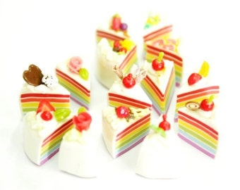Romantic Rainbow Mini cake, set of 10 pieces