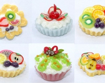Polymer Clay Beads for Food and Beaded Jewelry 12 pcs