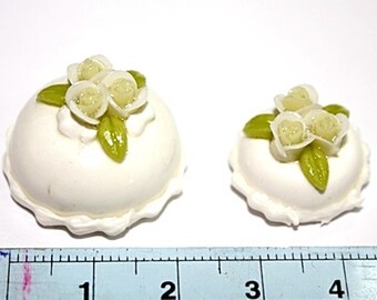 Miniature Polymer Clay Foods for Dollhouse and Beaded Jewelry 2 pcs