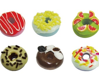 Miniature Polymer Clay Foods Supplies for Beaded Jewelry and Dollhouse 12 pcs