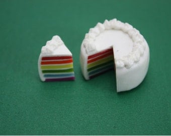 Miniature Polymer Clay Bakery for Dollhouse and Beads Jewelry