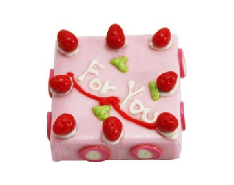 Miniature Polymer Clay Foods for Dollhouse and Beaded Jewelry 3.0 cm, 1 pcs
