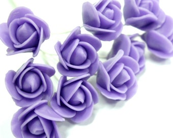 Handcrafted Violet Roses Clay, set of 10 pcs
