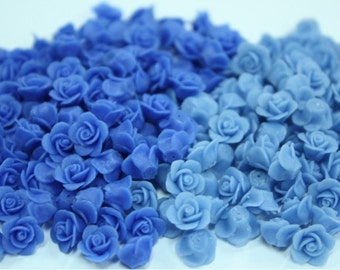 Miniature Polymer Clay Flowers Supplies for Dollhouse Roses 10 pcs