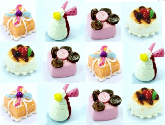 Mini cake, set of 12 pieces