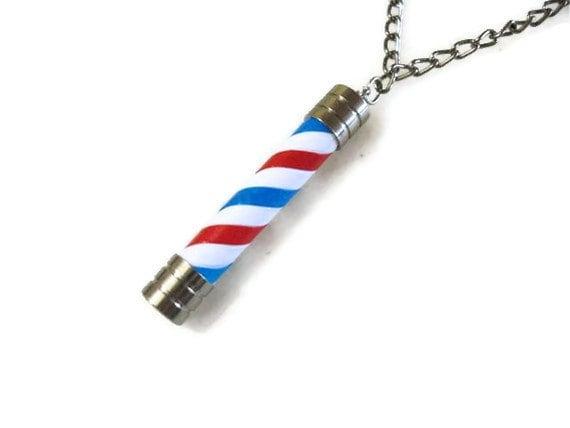 Barber Pole Necklace.Paris Saint Germain.Houston Texans.LA ANGELS ...