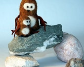 Cute Bonsaii and Brownie - eco friendly felted animals (bonsaiishop)