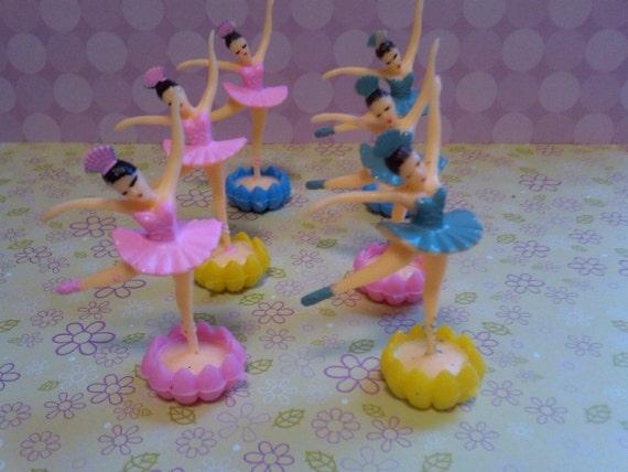 Mini Rosebud Ballerinas- Cupcake and Cake Toppers- Beautiful