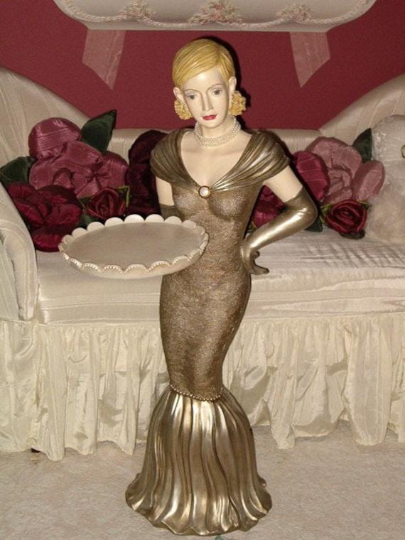 On Saleart Deco Lady Statue Figurine Boudoir By
