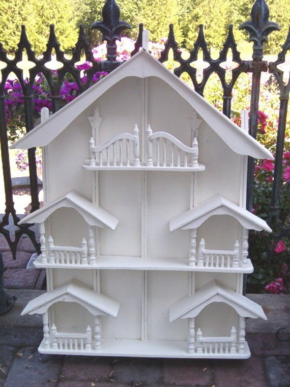 Shabby Cottage Chic Dollhouse Curio Cabinet By