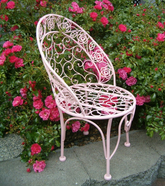 Rose Pink Girl CHILD KIDS Play CHAIR Scroll By Pinkchicboutique