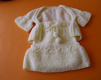 Baby girl set  6  pieces. 3 - 6  months. Hand knit. Ready to ship