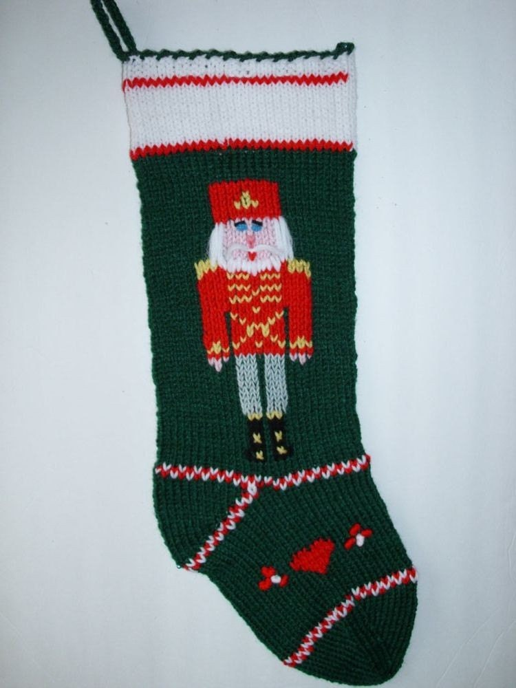 Christmas Stocking Hand Knit Personalize By Marikahandknits