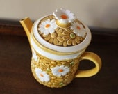 Vintage Daisy Pitcher by Fred Roberts Company