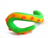Tentacle Swirl Novelty Eraser - Neon Green- small