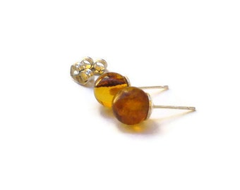 Dominican amber earrings post earrings studs minimalist style jewelry simple clean jewelry