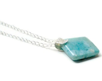 Larimar Pendant with chain included Fall fashion jewelry Holiday gift