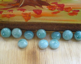 Larimar Cabochons round shape 9-10 mm set of 2 circle cabs