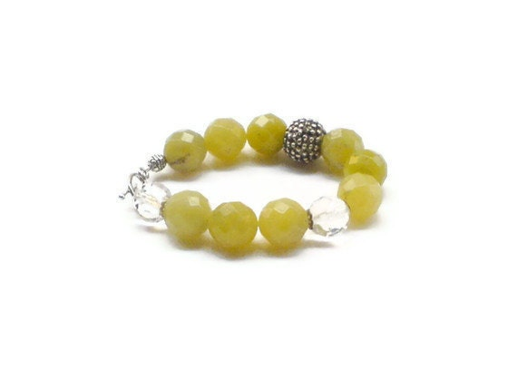 Lemon jade bracelet yellow sorbet
