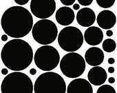 34 Black Polka Dots Stickers Removable Wall Stickers