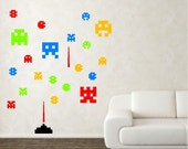 Space Creatures Invaders Wall Decals Stickers Art Decor