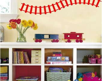 Train Track Wall Decals Removable Wall Stickers