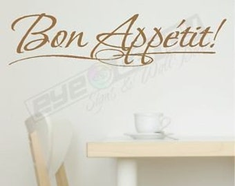 Bon Appetit Wall Sayings Words Decals Art