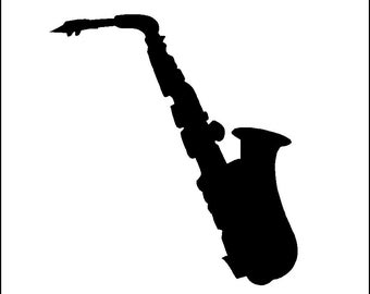 Saxophone Wall Decal Removable Music Wall Sticker