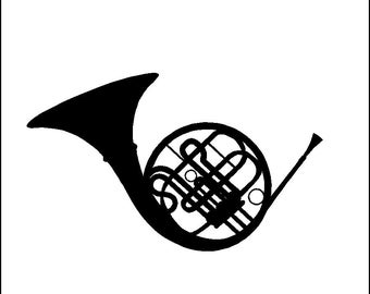French Horn Wall Decal Removable Horn Music Wall Sticker