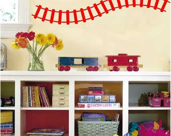 Curved Train Track Wall Decals Removable Wall Stickers