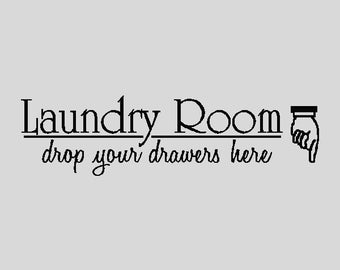 Laundry Room Laundry Wall Quotes Words Sayings Removable Laundry Wall Decal Lettering K007