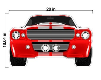 Peel and Stick Muscle Car Decal Removable Car Wall Sticker Art