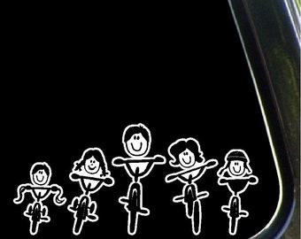 Stick Family Biking Car Decals Removable Biking Car Stickers