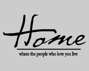 Home, Where the people who love you live..... Family Wall Quotes Words Sayings Removable Wall Lettering HO15