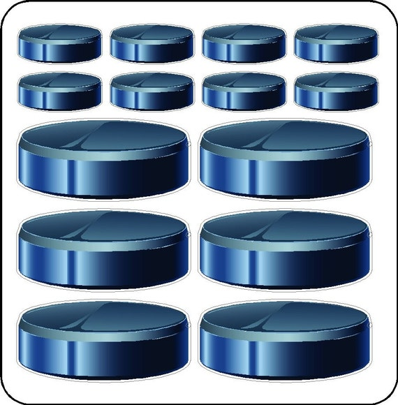 Peel and Stick Hockey Puck Decals Removable and Repositionable Hockey Wall Stickers Art