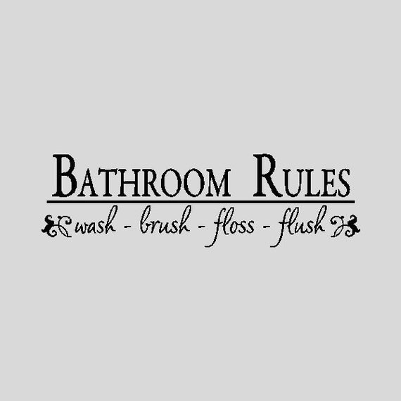 Bathroom Rules Bathroom Wall Quotes Words Sayings Removable