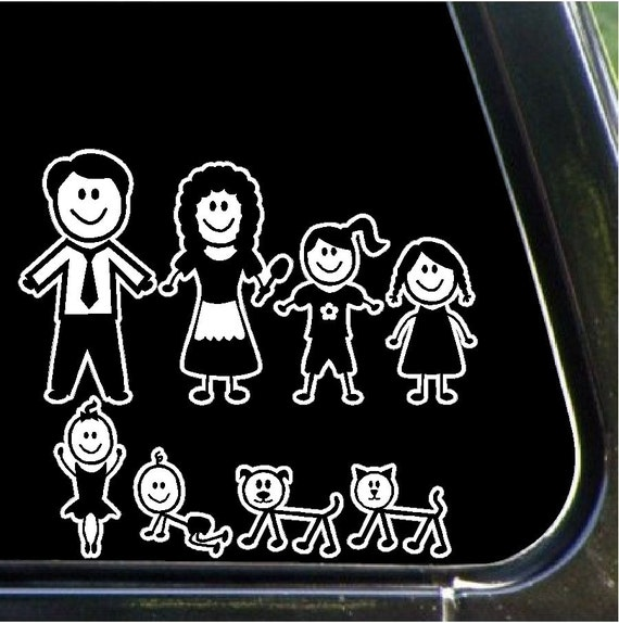 Stick People Family Car Decals Stickers