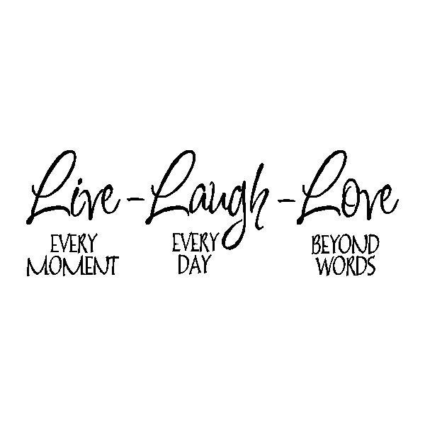 Live Laugh Love..Family Wall Quote Sayings Removable Wall