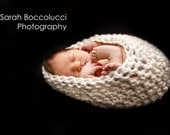 Crocheted Baby Cocoon Photo Prop