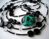 Long Black Unique Necklace