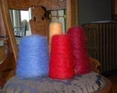 De-stash Weaving yarn Barrington Mohair Cornflower