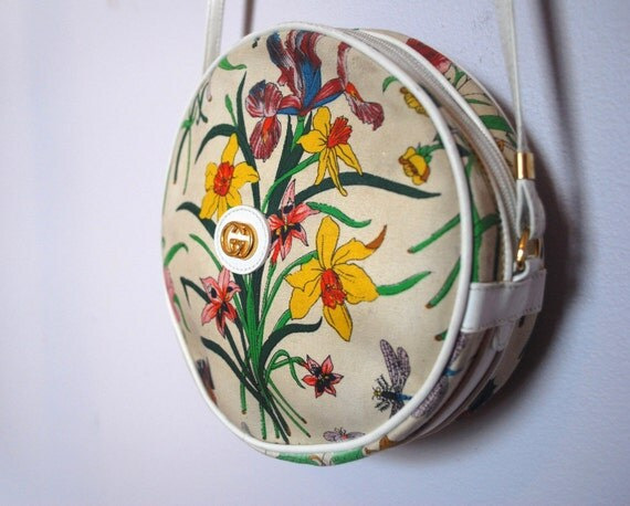 Vintage autentic froral  Gucci round bag