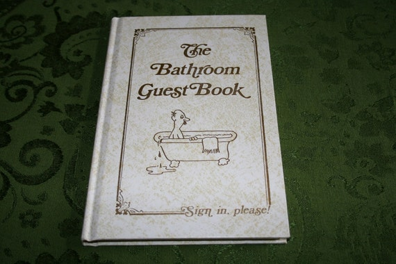 The bathroom guest book by jack kreismer red letter press for Bathroom guest book