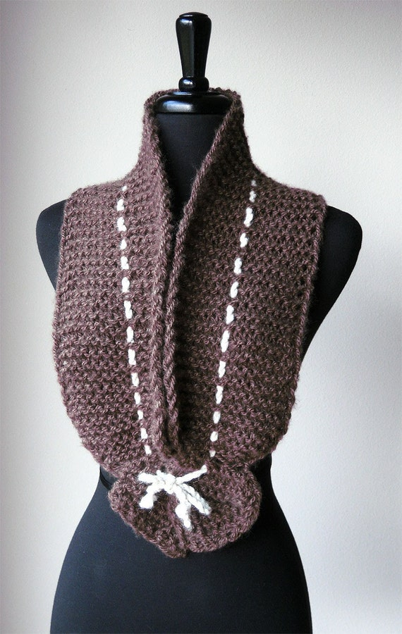 Light Chocolate Scarf Collar Necklet