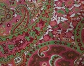 Pink & Green Floral and Paisley Blanket