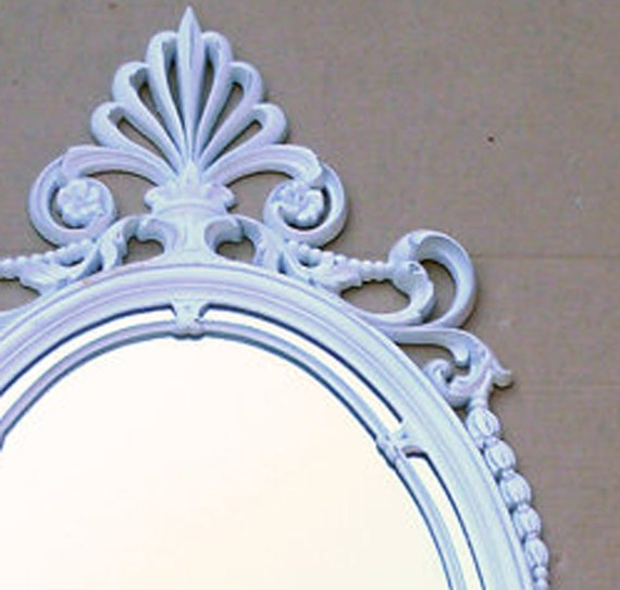 RESERVED for Leia . . . MIRROR Large Vintage Syroco Victorian White MIRROR . . . 17 x 37