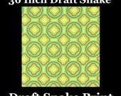 Door Draft Snakes, Door Draft Stopper - Green Tile Print