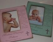 Godparent Baptism Christening Gift- Personalized Frame for Godparents- Godmother Godfather Baptism Christening Gift