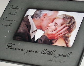 Personalized Father of the Bride Frame- For my Father on my Wedding Day - Personalized Photo Frame - Gift from the Bride